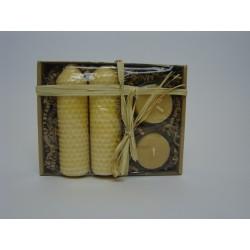 Geschenkkarton Bienenwachskerzen