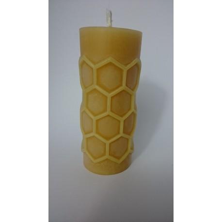 Kerze Bienenwachs Wabenoptk